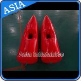 Rote Farben-aufblasbarer Weg auf Wasser-Schuhen/aufblasbares Wasser-gehenden Schuhen