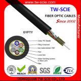 Cable óptico de fibra del modo de Singel de la base de las telecomunicaciones GYFTY 24