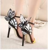 Оптовая торговля открытым носком слово застежкой бабочка высокого каблука босоножки