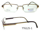 Het populaire Optische Frame van het Metaal van het Titanium voor de Modieuze Jonge Mens (TT 6125)