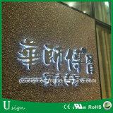 Muestra interior al aire libre puesta a contraluz Facelit de las cartas de canal de la publicidad de asunto del departamento LED