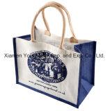 方法によってハンドバッグの昇進の再使用可能で自然なジュートのEco個人化される袋