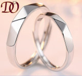 Trouwring 925 van de D- Vorm Echte Zilveren Ring