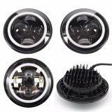 IP68 Faisceau DOT Élevée Faible Angel Eye 12 24V 75W Sealed Beam 7 pouces LED ronde Auto Jeep Phare pour feu de conduite de voiture