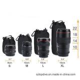 Sac mou de poche de lentille du néoprène de cordon d'appareil-photo du néoprène, couverture de lentille ajustée pour Sony Canon Nikon
