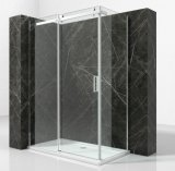 Bastidor de aluminio baño ducha de vidrio endurecido de rectángulo con la radio
