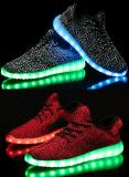 Фабрика 2017 первоначально Unisex СИД Yeezy обувает горячие продавая ботинки СИД для взрослый батареи освещения для ботинок
