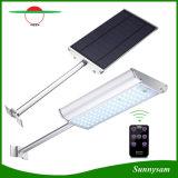 El radar de control remoto de la seguridad del sensor de movimiento al aire libre de iluminación LED de 70 de la luz solar