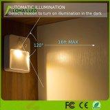 0,5 W 5V recargable Mini USB de la luz del sensor de movimiento por infrarrojos para mueble de la escalera de pared