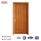 Puerta redondeada de madera interior económica del MDF para el chalet