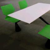Tabela e cadeira do restaurante do assento do fast food 4