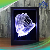 Cadre photo 3D de la lampe de contrôle à distance 7 Changement de couleur de lumière de nuit d'illusion de Gradient de lumière à LED