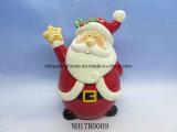Санта Клаус керамические конфеты Jar для рождественские украшения