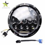 "Ce premium Bright High Low Beam 75W 7 "" Round LED Headlight with Parking Light for jeep"