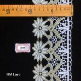 tessuto floreale pesante Premium del merletto di 9.5cm, testo fisso chimico Hme801 del tessuto del merletto