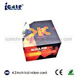 Sensor de luz de 4,3 polegadas na caixa de vídeo em branco com marcação & RoHS