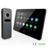 Tela de toque 7 polegadas de intercomunicador video do telefone da porta do Interphone da segurança Home