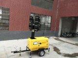 LED Vehicle-Mounted Vertical telescópico hidráulico de la torre de iluminación móviles 8,5m