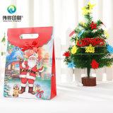 관례 포장하는 최신 크리스마스 나무 선물 종이 봉지 인쇄