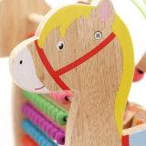 Brinquedo educacional das crianças de madeira da forma do cavalo do grânulo do labirinto