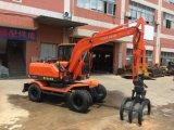 Excavadora de ruedas Brand-New chino con tenazas de registro