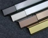 Protector de la esquina de perfiles de acero inoxidable con diferentes acabados