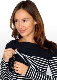 Bretonisches Streifen-Krankenpflege-Baumwollkleid