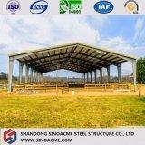 Entrepôt préfabriqué de grange de volaille de structure métallique de qualité bon marché