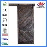 3-Panel Compuesto de nuevo diseño de bolsillo doble puerta de madera