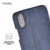Schwarzer blauer erstklassiger lederner äußerer und flexibler TPU weicher hybrider dünner Kasten für iPhone X