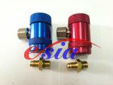 Coupleur rapide en laiton de R134A, ajustage de précision en laiton