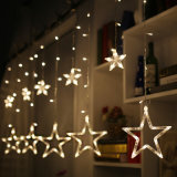 Decorative Christmas Lighting Romantic Fairy Star LED Light Curtain String Lighting for Holiday Wedding Garland Party