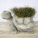 Europa ed il retro POT di fiore di figura del Tortoise di stile