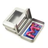 Прикрепленная на петлях коробка олова металла с олов окна малыми Mint