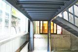 鋼鉄の梁およびコラムが付いているプレハブの鉄骨フレームの中二階のオフィス