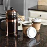 Горячий напиток бумаги чашки кофе, чая, какао, перейдите к пункту