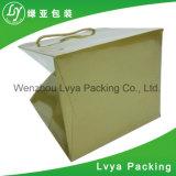 Logotipo feito sob encomenda extravagante novo saco de papel de compra impresso do presente com punho