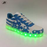 Beiläufige Schuh-Sport bereift helle Schuhe der Schuh-LED für Mann-Frauen-Kind (1088#)
