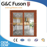 Portello scorrevole del doppio vetro temperato di alluminio interno