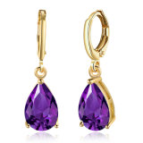 Fashion femmes Simple violet Zircon Hoop Earrings Bijoux