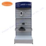 Fußboden-stehende Supermarkt-MetallSlatwall Messeen-Bildschirmanzeige-Hilfsmittel-Standplätze