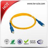 Sc recto de mode unitaire au cordon de connexion de fibre optique de Sc