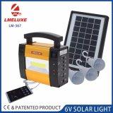 Todos em uma luz LED solar com três lâmpadas Iluminação Lm-367 Sistema de carregamento solar