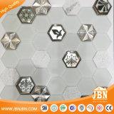 ヨーロッパの六角形のガラスアルミニウム石造りのモザイク・タイル(M855408)