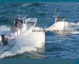 Barco del Panga de Liya los 7.6m para pescar el barco de pesca de la fibra de vidrio de China