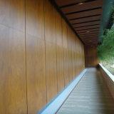 El panel de pared de madera del hotel del grano HPL