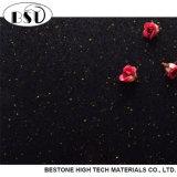 Quartz artificiel de résine de polyester de série de Gloden pour la partie supérieure du comptoir
