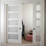 غرفة نوم داخليّ وحيد خشبيّة [بنل دوور] تصميم مع ملحقة زجاجيّة