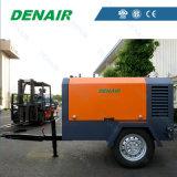 Compresor de aire rotatorio movible diesel del tornillo para el equipo industrial general