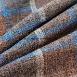 Пряжа 100% шотландки полиэфира покрасила Linen ткань взгляда используемую для софы